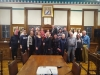 Members of the Island's Russian community welcomed to the town hall