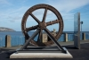 Restored cable tram flywheel installed at landmark site
